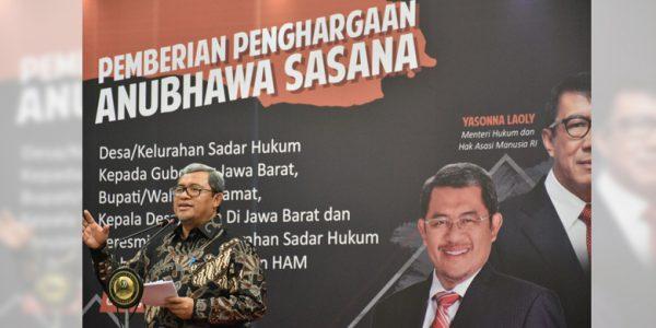 Penghargaan Anubhawa Sasana Desa/Kelurahan Bagi Kab. Bandung