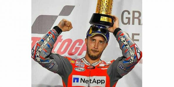 MotoGP Qatar, Dovizioso Menang Lorenzo Crash