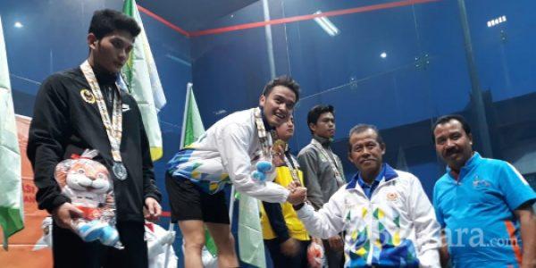 Agung Wilanz Raih Medali Emas Cabang Squash di PORDA 2018