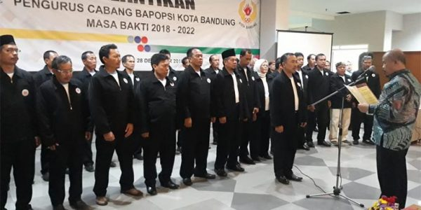 Pelantikan 50 Orang kepengurusan BAPOPSI Kota Bandung Periode 2018-2022